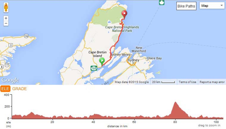 Map of The Cabot Trail